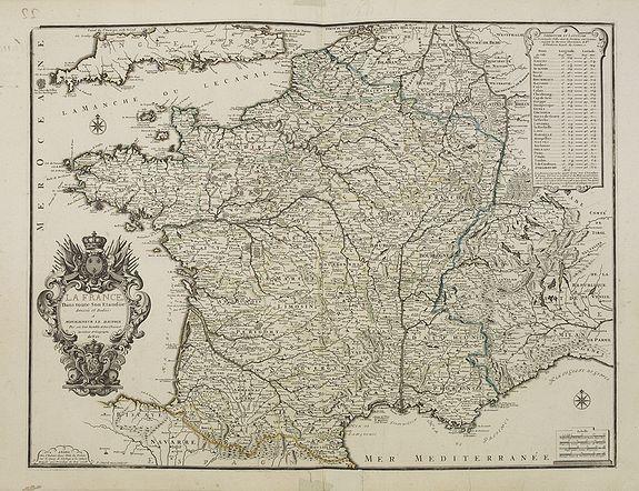 DE FER N. -  La France dans toute son Etandiie dressée et dédiée a Monseigneur le Dauphin. . .