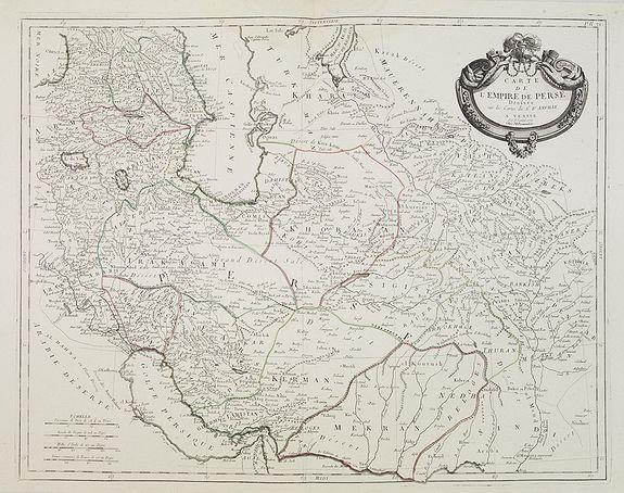 SANTINI, P. -  Carte de l'Empire de Perse. . .