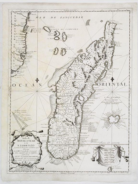CORONELLI, V.M. -  Isola di Madagascar o di S. Lorenzo Scoperta dà Portoghesi nell anno 1506. . .