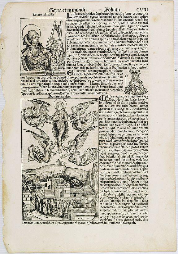 SCHEDEL, H. -  Sexta Etas Mudi. Lucas Evagelista. Folium CVIII