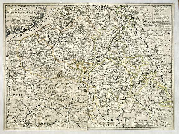 CORONELLI, V / NOLIN, J.-B. -  La partie Meridionale des Pays-Bas, Connue sous le nom de FLANDRE divisée en plusieurs Provinces. . .
