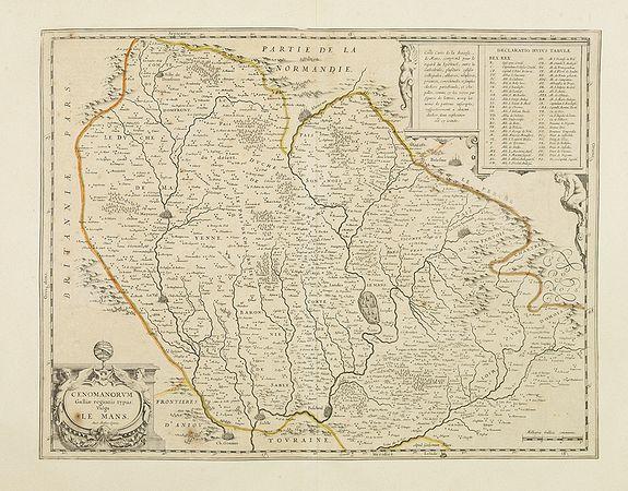 BLAEU, W. -  Cenomanorum Galliae regionis typus: Vulgo Le Mans.