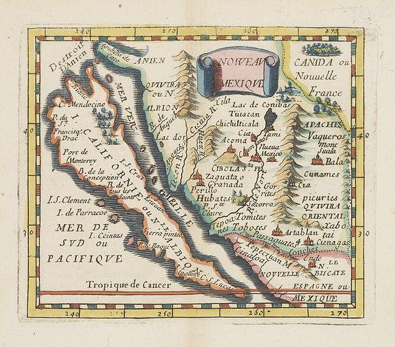 DU VAL, P. -  Noweav Mexiqve. [California as an Island]