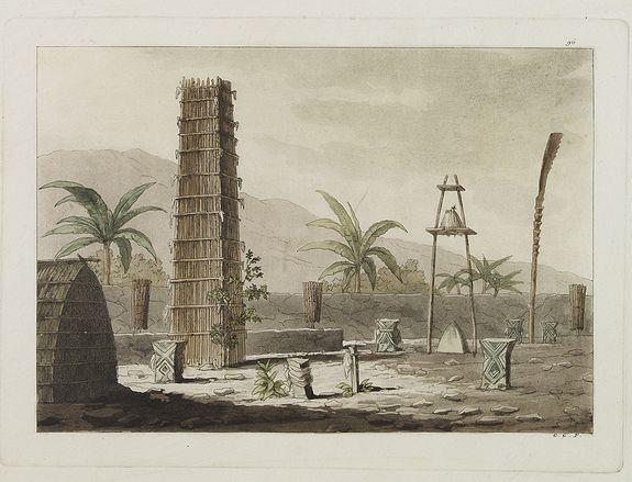 FERRARIO, G. -  [ Sandwich Island's rituals edifice ].
