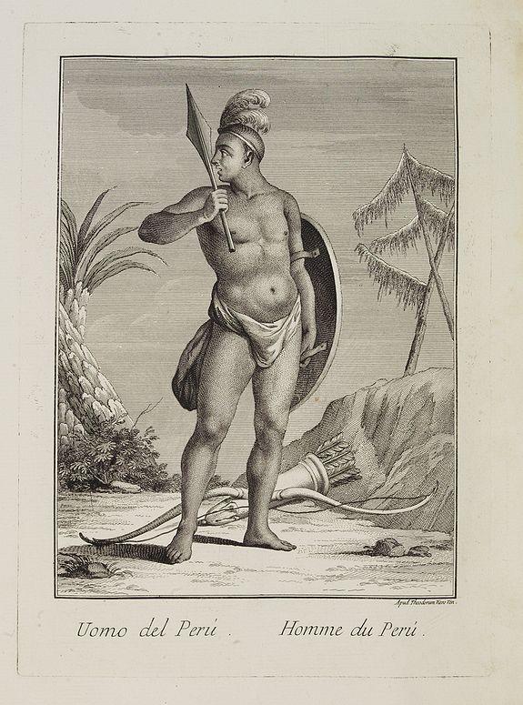 VIERO, Theodorum. -  Uomo del Perù.  / Homme du Perou.