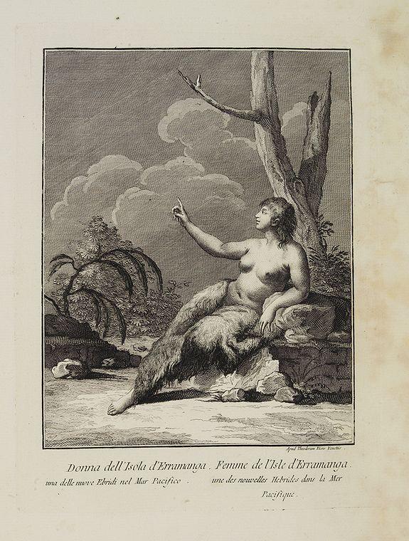 VIERO, Theodorum. -  Donna dell' Isola d' Erramanga una delle nuove Ebridi nel Mar Pacifico.  / Femme de l'Isle d'Erramanga une des nouvelles Hebrides dans la Mer Pacifique.