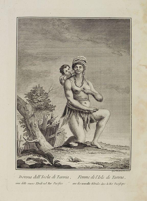 VIERO, Theodorum. -  Donna dell' Isola di Tanna,  una delle nuove Ebridi nel Mar Pacifico.  / Femme de l' Isle de Tanna, une des nouvelles Hebrides dans la Mer Pacifique.