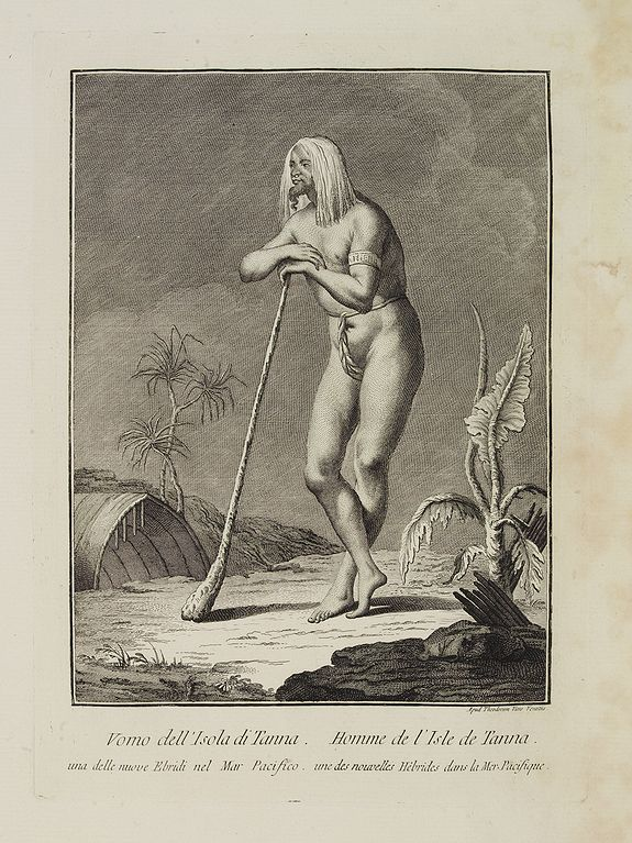 VIERO, Theodorum. -  Uomo dell'  Isola di Tanna, una delle nuove Ebridi nel Mar Pacifico.  / Homme de l' Isle de Tanna, une des nouvelles Hébrides dans la Mer du Pacifique.