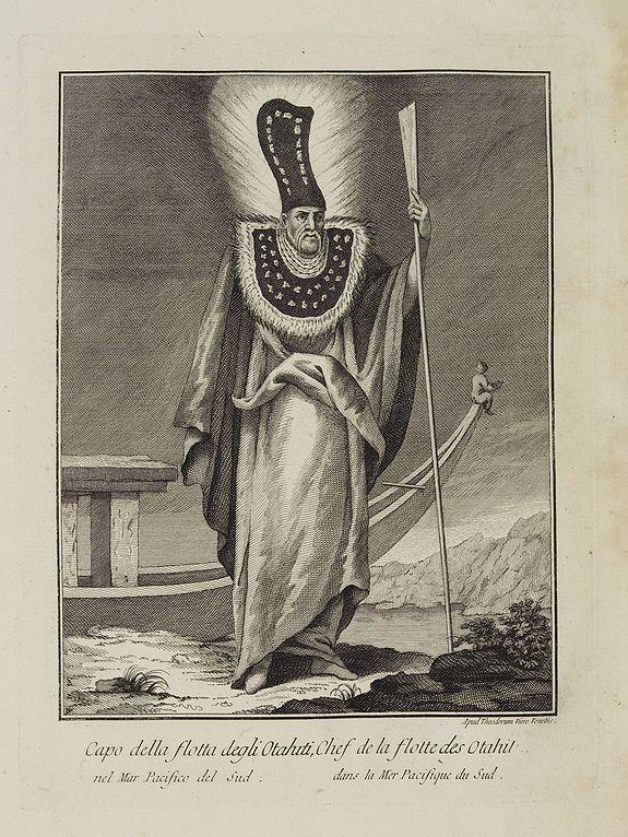 VIERO, Theodorum. -  Capo della flotta degli Otahiti nel Mar Pacifico del Sud.  / Chef de la flotte des Otahiti dans la Mer Pacifique du Sud.
