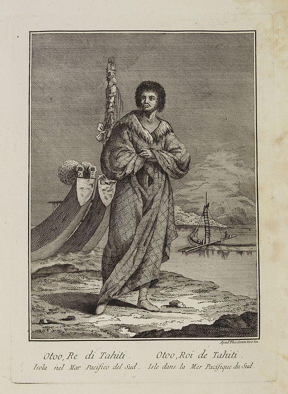 VIERO, Theodorum. -  Otoo, Re di Tahiti Isola nel Mar Pacifico del Sud.  / Otoo, Roi de Tahiti  Isle dans la Mer Pacifique du Sud.