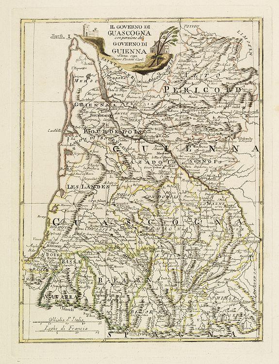 PAZZINI, C. -  Il Governo di Guascogna con porzione del Governo di Guienna.