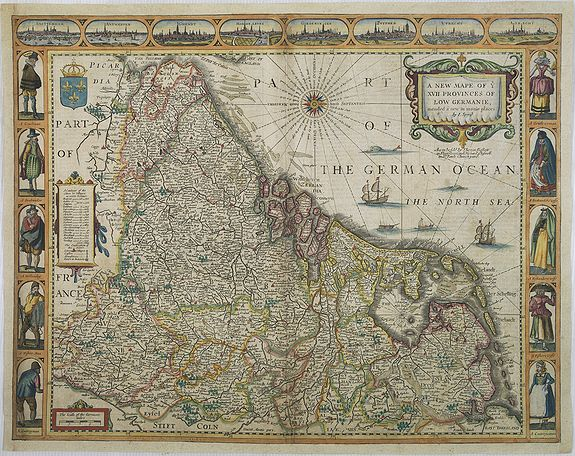SPEED, J. -  A new mape of Ye XVII Provinces of Low Germanie.