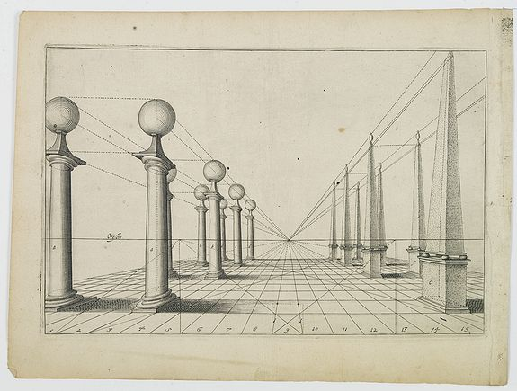 VREDEMAN DE VRIES, P. / HONDIUS, H. -  [Perspective print after J. Vredeman de Vries. ]