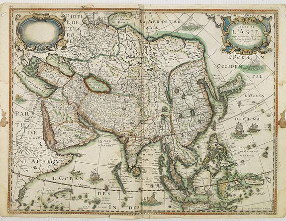 DANCKERTS, C. / BERTIUS, P. -  Carte de L'Asie.