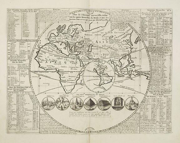 CHATELAIN, H. - Plan de l'histoire universelle..