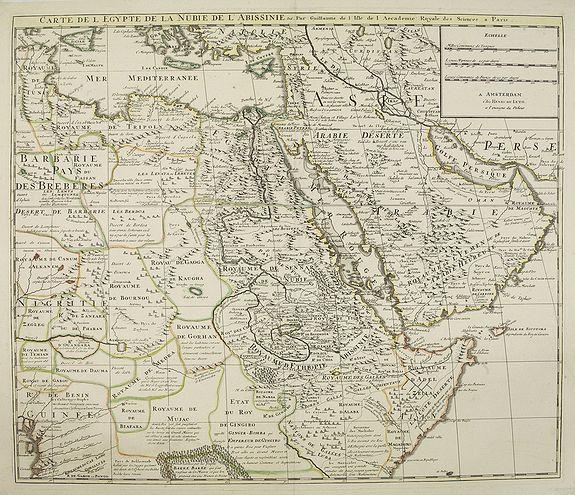 DE LETH, H. -  Carte de L'Egypte de la Nubie de L'Abissinie. . .