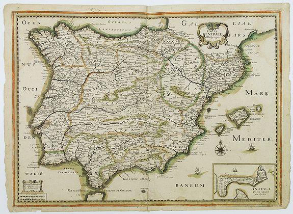 TASSIN, N. -  Carte generale d'Hespagne.