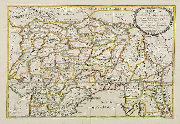 ROSSI, G.G. -  L' India di qua e di la dal Gange oue sono li Stati del G. Mogol e parte del Imperio del fu prete Iann..