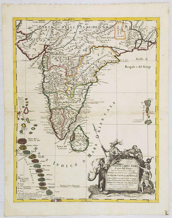 DE ROSSI, G. -  Penisola dell India di là dal Gange et Isole intorno ad essa adiacenti..