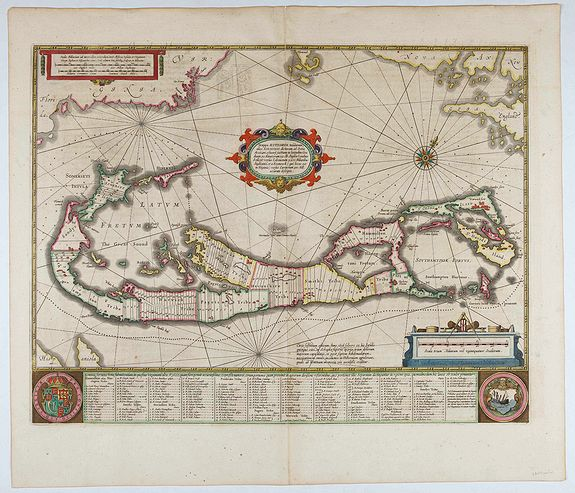 JANSSONIUS, J. -  Mappa Aestivarum Insularum, alias Barmudas..