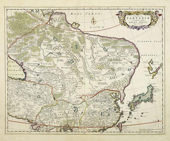 DE WIT, F. -  Tabula Tartariae et majoris partis regni Chinae.