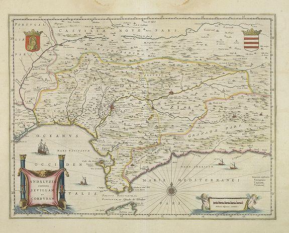 BLAEU, W. -  Andalusia continens Sevillam et Cordubam.