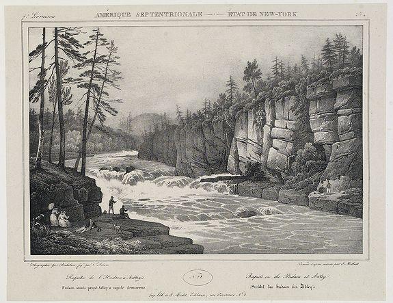 MILBERT, J. -  Bridge on the Hudson River near Luzerne. . .  N°25. Pl. 1.