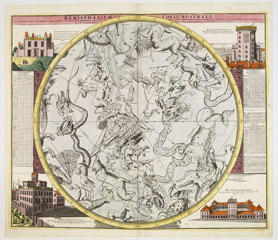DOPPELMAYR, J.G. / HOMANN, J.B. -  Hemisphaerium Coeli Australe in quo Fixarum. . .