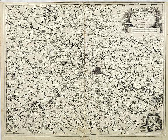 VISSCHER, N. -  Comitatus Namurci Emendata Delineatio, Nuperrimè in lucem edita, per Nicolaum Visscher.