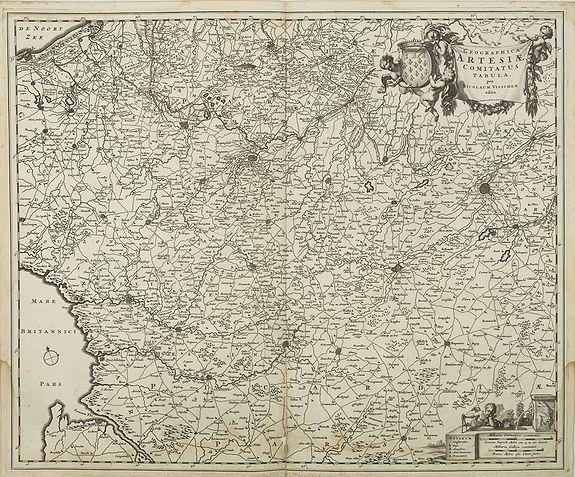 VISSCHER, N. -  Geographica Artesiae Comitatus Tabula,  per Nicolaum Visscher.
