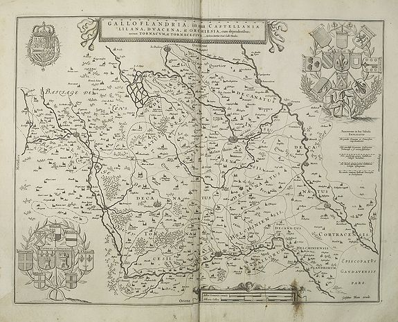 BLAEU, J. -  Galloflandria, in qua Castellaniae Lilana, Duacena, & Orchiesia, cum dependentibus, necnon Tornacum, & Tornacesium. Auctore Martino Doue Gallo-Flandro.