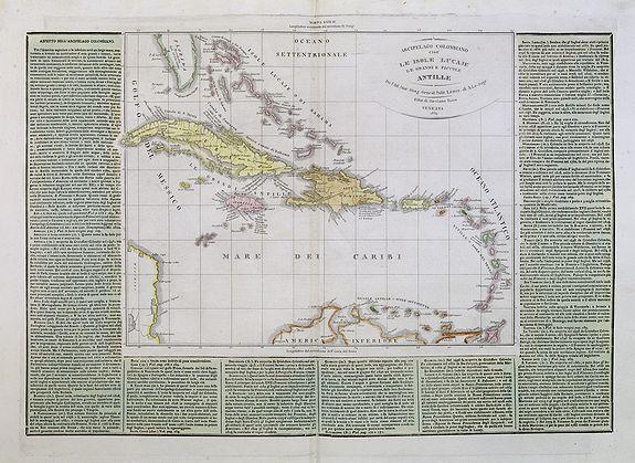 TASSO, G. -  Arcipelago Colombiano cioe Le Isole Lucaje Le Grandi e Piccole Antille.