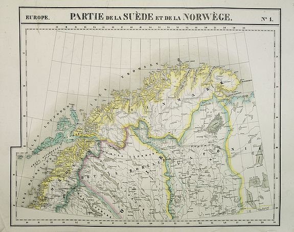 VANDERMAELEN, Ph. -  Europe. Partie de la Suède et de la Norwège. N.1.