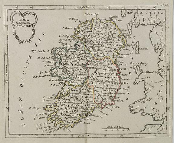 DE LAPORTE, L'Abb�. -  Carte du Royaume d' Irlande . . .