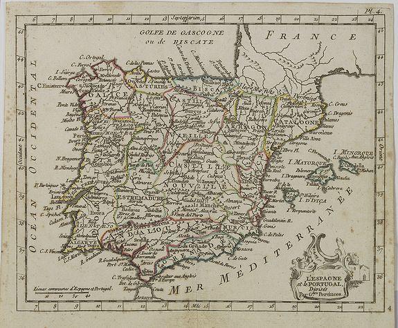 DE LAPORTE, L'Abbé. -  L' Espagne et le Portugal . . .