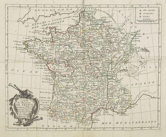 DE LAPORTE - Carte du Royaume de France
