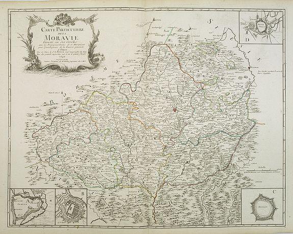 LE ROUGE, G.L. -  Carte Particuliere de la Moravie Divisée en six Cercles . . .