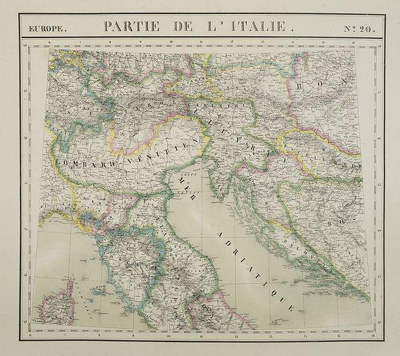 VANDERMAELEN, Ph. -  Europe. Partie de la Italie. N°20.