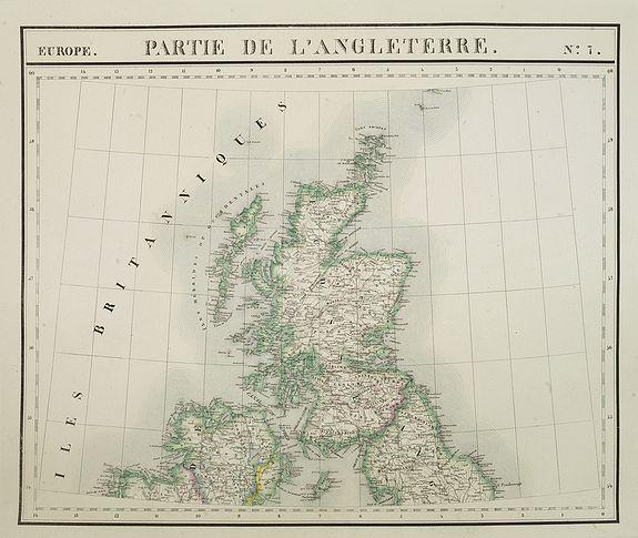 VANDERMAELEN, Ph. -  Europe. Partie de l'Angleterre. N°7.