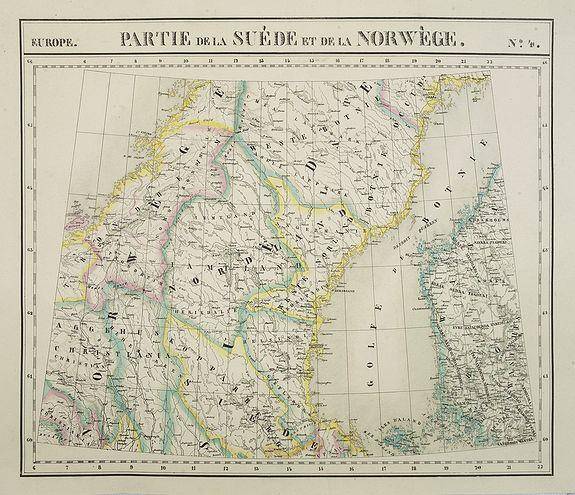 VANDERMAELEN, Ph. -  Europe. Partie de la Suède et de la Norwège. N°3.