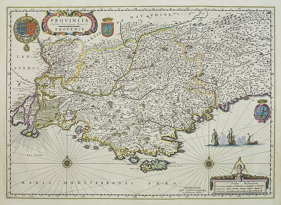BLAEU, W. and J. -  Provincia autore Petro Johanne Bompario Provence.