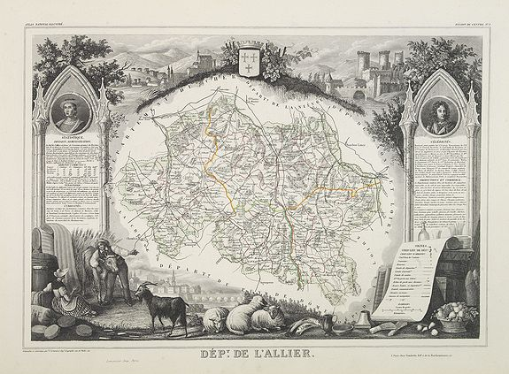LEVASSEUR, V. -  Dépt. De L'Allier. N°3.  [ Moulins ]