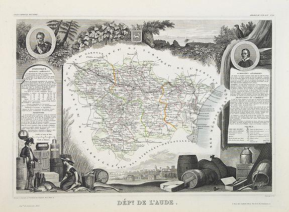 LEVASSEUR, V. -  Dépt. De L'Aude. N°10. [ Carcassonne ]