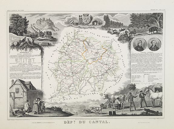 LEVASSEUR, V. -  Dépt. Du Cantal. N°14. [ Aurillac, Murai ]
