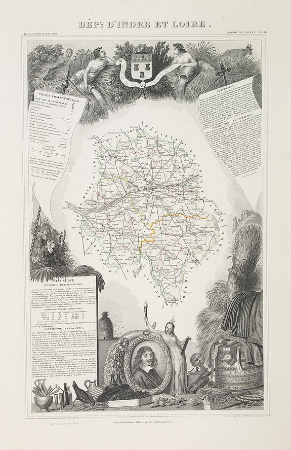 LEVASSEUR, V. -  Dépt. D' Indre et Loir. N°36. [ Tours ]