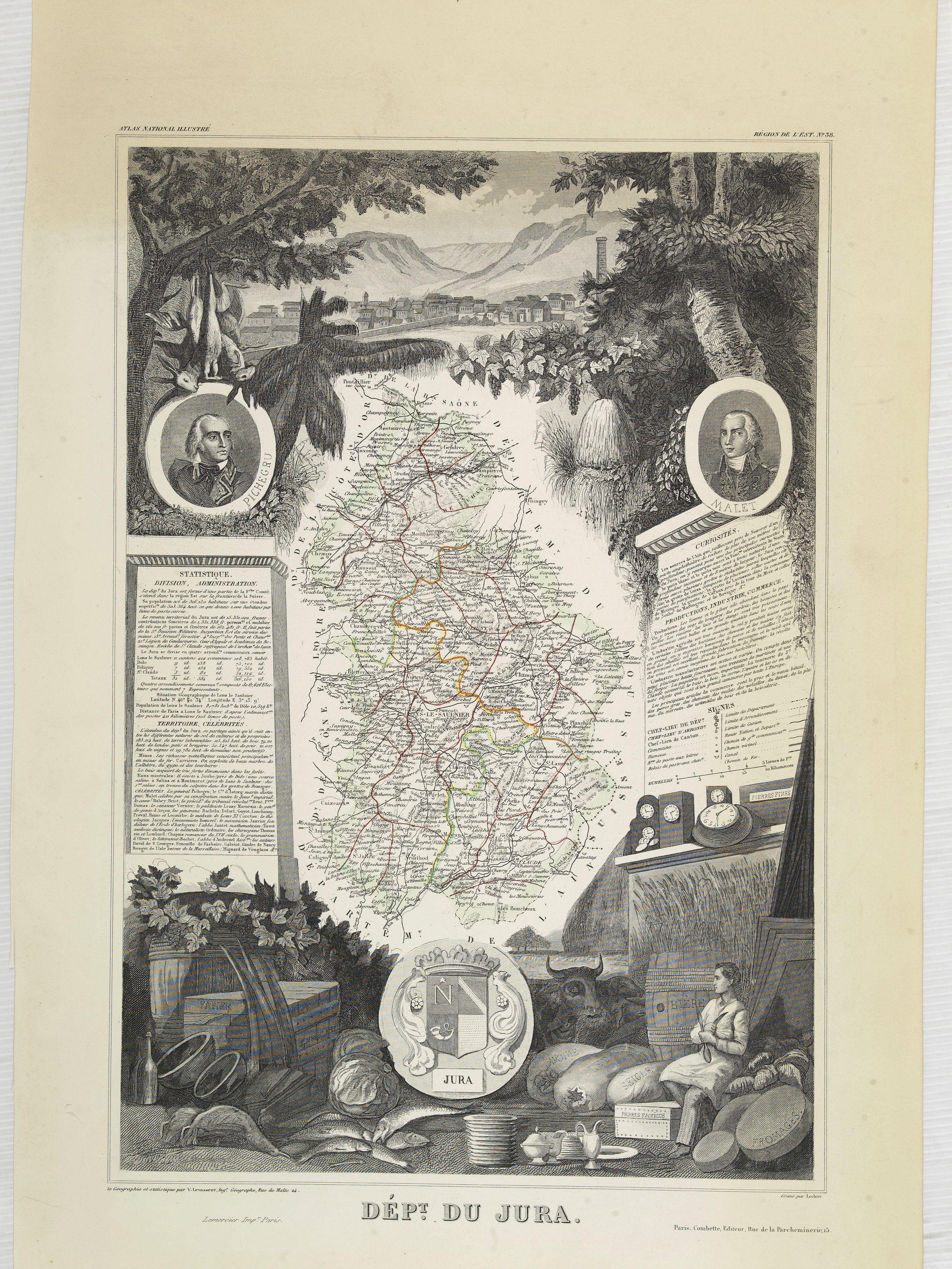 LEVASSEUR, V. -  Dépt. Du Jura. N°38.