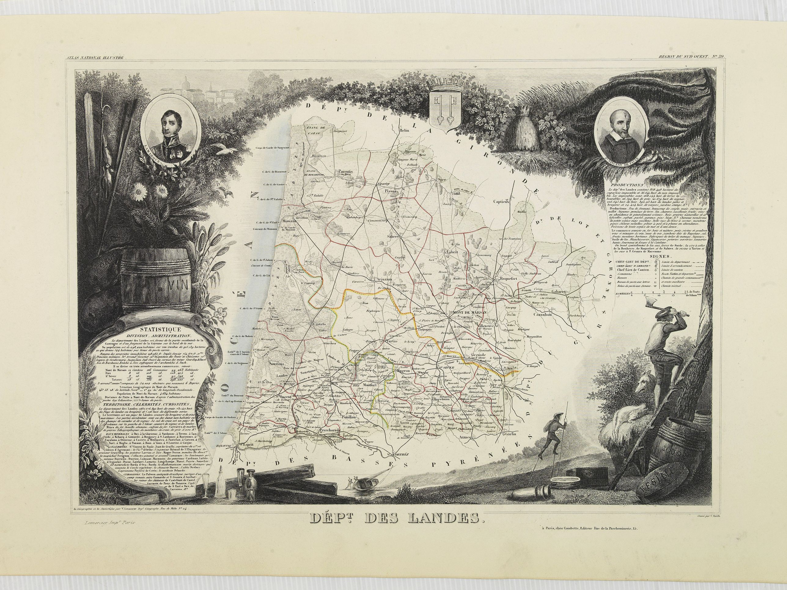 LEVASSEUR, V. -  Dépt. Des Landes. N°39.