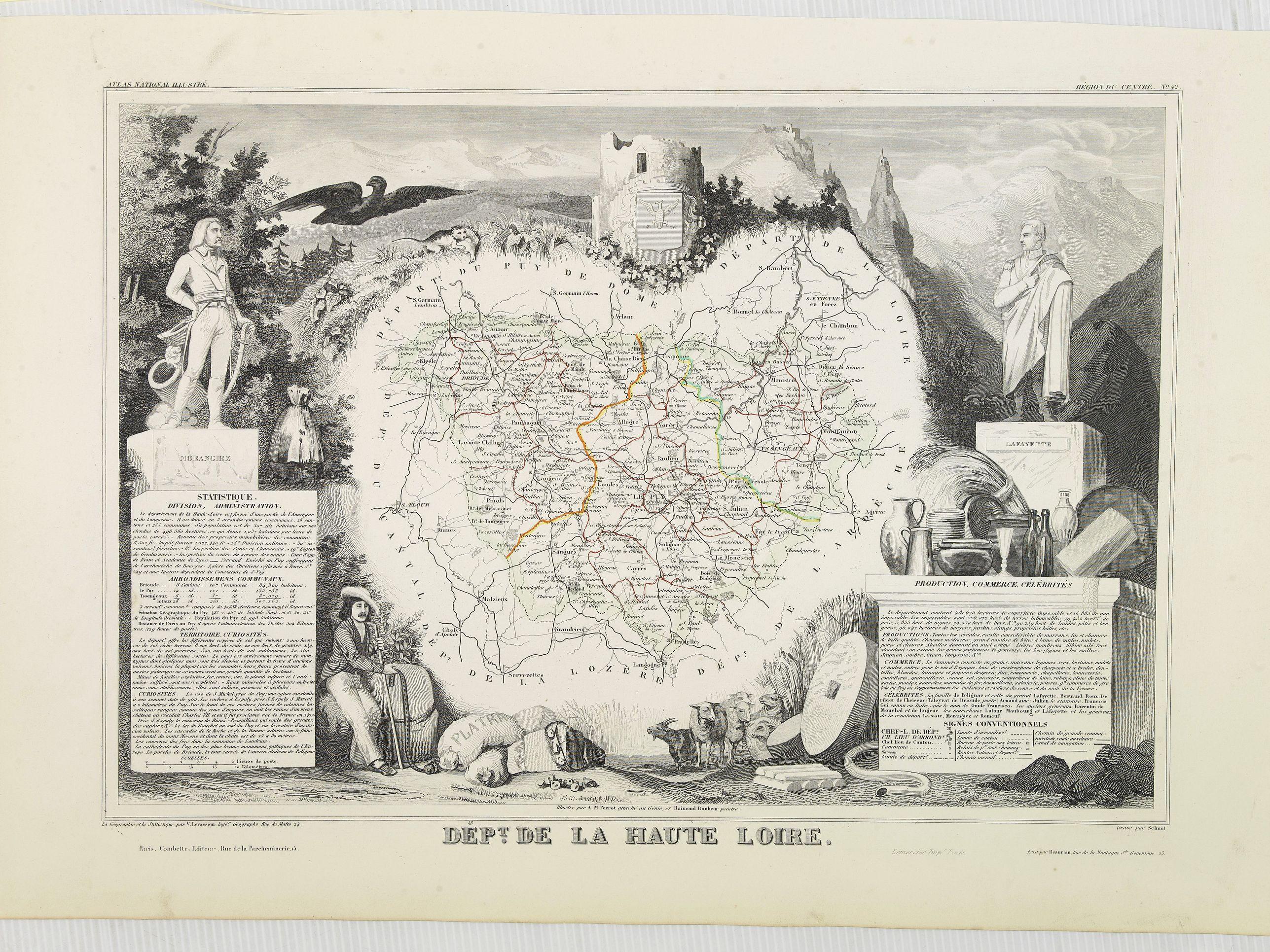 LEVASSEUR, V. -  Dépt. De La Haute Loire. N°42.