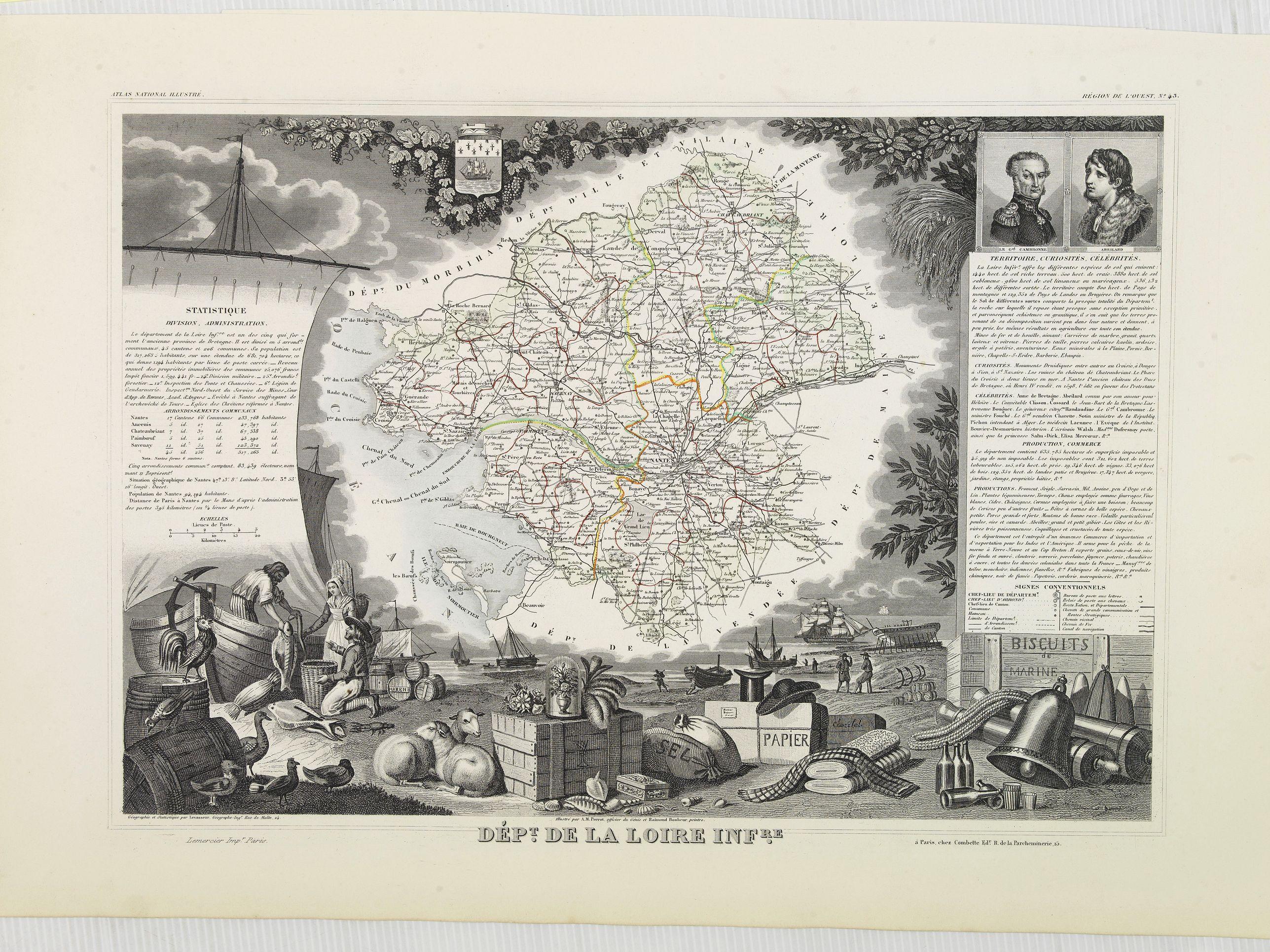 LEVASSEUR, V. -  Dépt. De La Loire Infre. N°43. [ Nantes ]