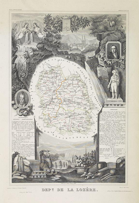 LEVASSEUR, V. -  Dépt. De La Lozère. N°47. [ Florac, Mende ]